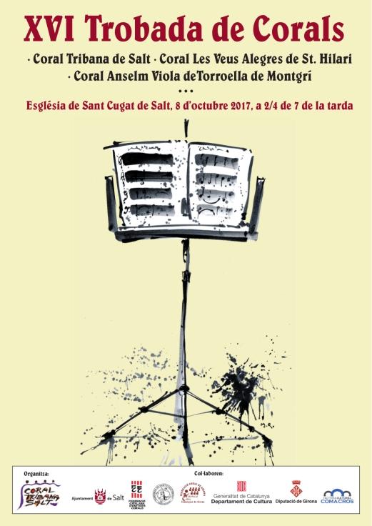 cartell Concert 8 octubre- 2017-Coral Tribana