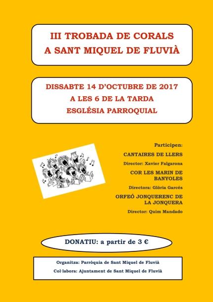 III TROBADA DE CORALS 2017 cartell
