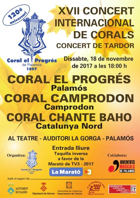 Concert Tardor 18 -11-2017-Coral El Progrés