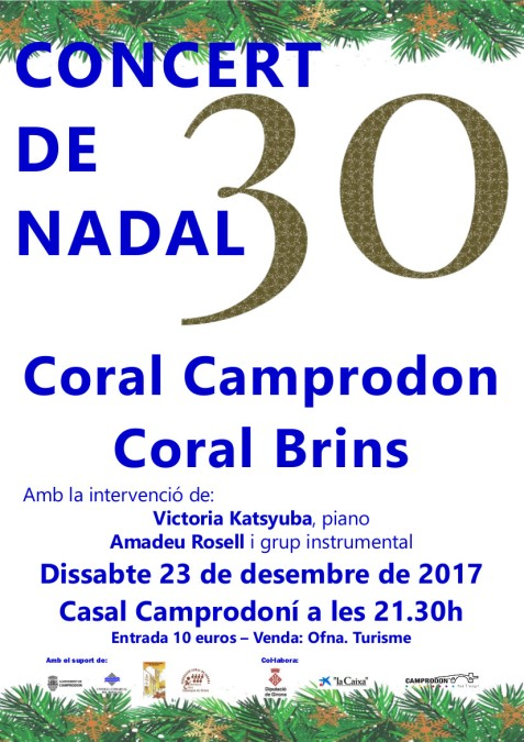 Cartell Concert Nadal 23-12-2017 Coral Camprodon