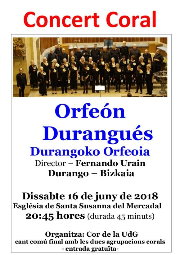 concert Cor de la UDG 16 de juny
