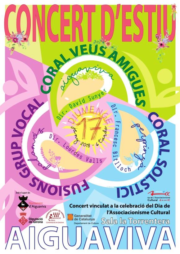 VEUS AMIGUES Concert d'Estiu. Aiguaviva 17 JUNY