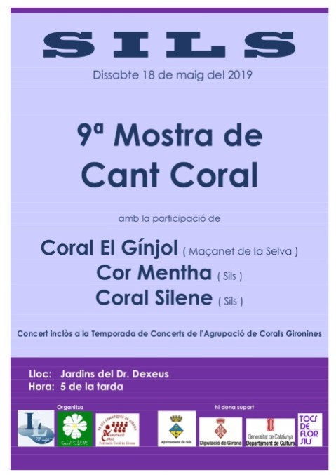 Cartell Coral Silene 18 de maig (Small)