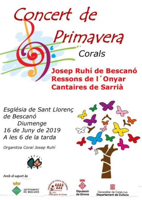 cartell concert de Primavera 2019 C Josep Ruhí (Small)