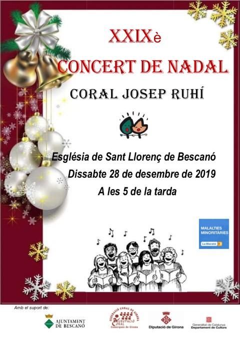 Concert de Nadal 28 desembre 2019 C J Ruhí